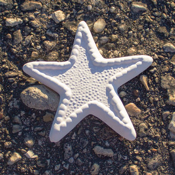 "Detailed Sea Star 3.8"" Ready to Paint Ceramic Bisque"