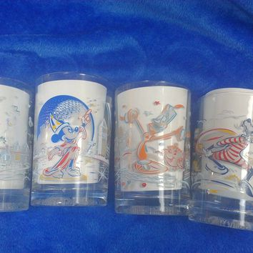 1996 Walt Disney 25th Anniversary Collectible Deco McDonald Glassware Tumblers