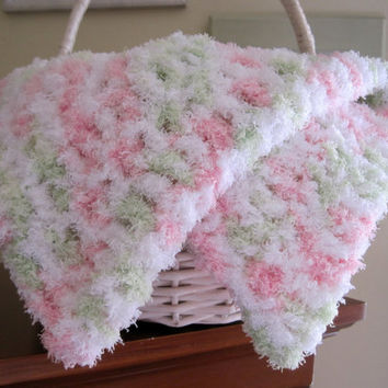 Crochet Baby Blanket Baby Blanket Mini Blanket by Monarchdancer
