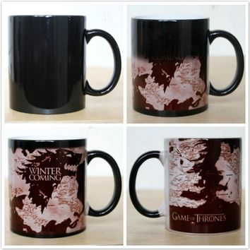 Game of Thrones Targaryen Changing Color Mug Coffee Mug Creative Gifts for Friends (Size: Mug)