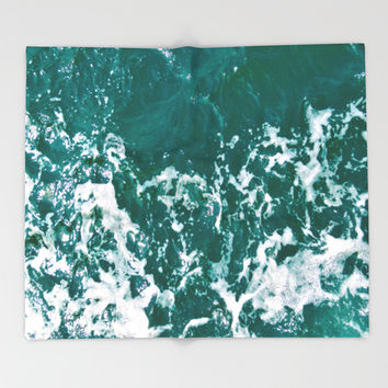 Emerald Waters Throw Blanket by ARTbyJWP