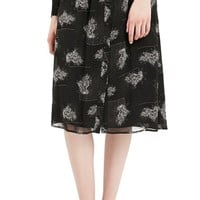 Women's Topshop Archive Collection Flower Print Button Front Midi Skirt,