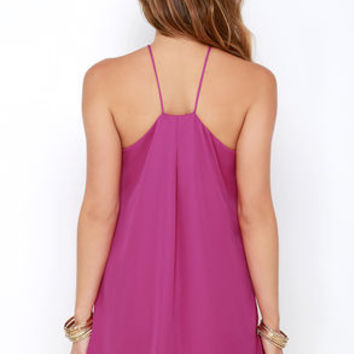 Lucy Love Almost Famous Magenta Dress