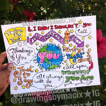 Wherever You Are Lyric Drawing by Drawingsbymaci on Etsy