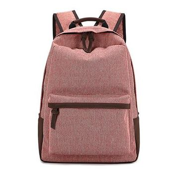 Girls bookbag Canvas Backpack for Teenagers Solid Leisure Travel Backpack School Bags for Boys Girls Rucksack 5 Colors Big Capacity Bookbags AT_52_3