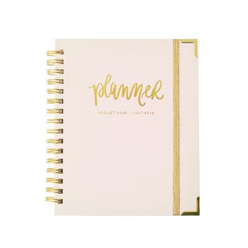 Sweet Water Decor - Pink and White Stripe Planner | 2019