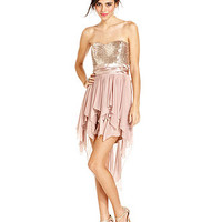 Trixxi Juniors Dress, Strapless Sequin Handkerchief - Juniors Homecoming Dresses - Macy's