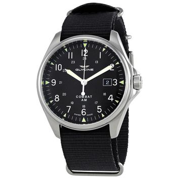 Glycine Combat 6 Vintage Black Dial Automatic Mens Watch GL0123