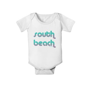 South Beach Color Scheme Design Baby Romper Bodysuit by TooLoud