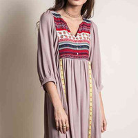 Brilliant in Boho Dress - Taupe