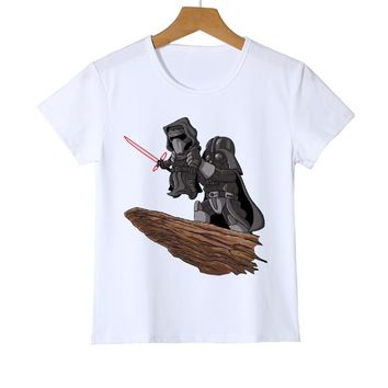 Funny Cool Star Wars Lion King Printed Kids T-Shirt Summer Novelty Cartoon T Shirt Boys Girls Babys Hipster Tee Tops Z34-13