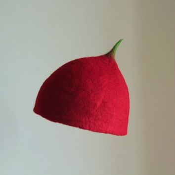 Hand-made original wool felt hat - ufo collection