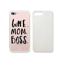 """""""Wife Mom Boss"""" Quote Text Transparent Plastic Phone Case Phone Cover for iphone 7 _ SUPERTRAMPshop (iphone 7)"""