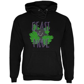 Beast Mode Cute Black Panther Cub Mens Hoodie