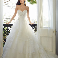Fairytale Hot Image Fluffy Sweetheart Corset Back Sweep Train Tiered Exotic Wedding Dress With Beadings Y11565 5481764