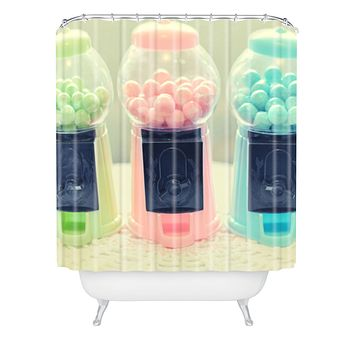 Lisa Argyropoulos Bubble Gum Shower Curtain