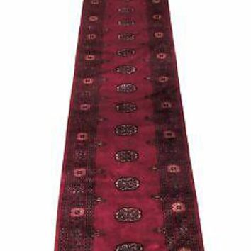 16 feet Long Red Stair Carpet Oriental Runner Classic Bokhara Pakistani Runner