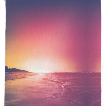 Summer - Linen beach towel created by HappyMelvin | Print All Over Me