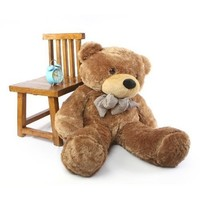 "Sunny Cuddles - 30"" - Super Cute & Huggable,giant Teddy Mocha Colored Plush Bear"