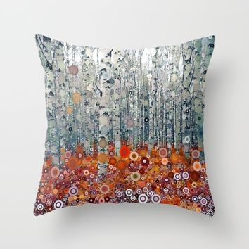 :: Run Free Woods :: Throw Pillow by :: GaleStorm Artworks ::