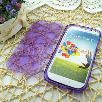 Flip Transparent Clear Soft Silicon Case for Samsung Galaxy S4 Flexible TPU Durable Phone Cover 4s for SM i9500 S 4