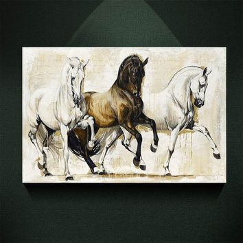 Modern Oil Painting Print On Canvas THE HORSE OF SALUTE Picture Poster Wall Art Picture Wall Pictures for Living Room Modern Wal