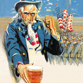 Give Me Liberty of Give Me Beer 20x30 poster
