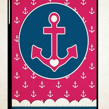 anchor pattern wallpaper Y1270 iPad 2 3 4, iPad Mini 1 2 3, iPad Air 1 2 , Galaxy Tab 1 2 3, Galaxy Note 8.0 Cases