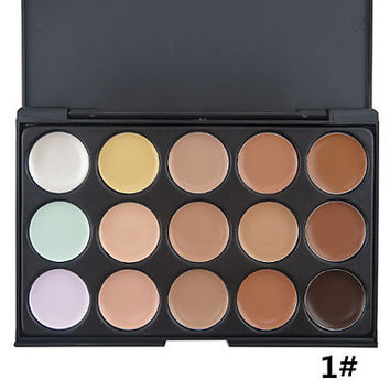 15 Color Correcting Camoflage Professional Contouring Makeup Vibrant Palette