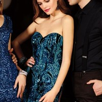 Strapless 2014 Alyce Cocktail and Homecoming Collection Dress 4396