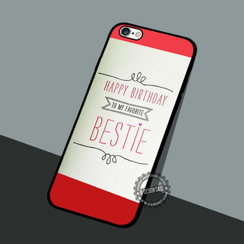 Card From Bestie - iPhone 7 6 5 SE Cases & Covers