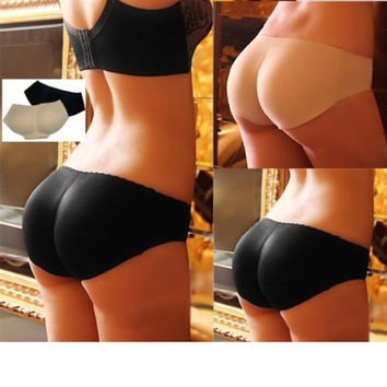 Hip Up Padded Butt Enhancer Shaper Lady Sexy Panties Seamless Soft Underwear = 1932603204