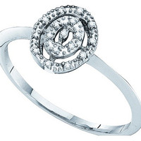Diamond Fashion Ring in 10k White Gold 0.03 ctw