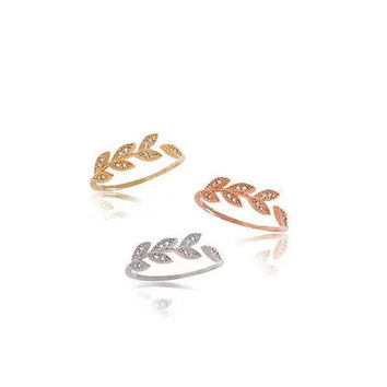 Vine and Dine Delicate Leaf Ring