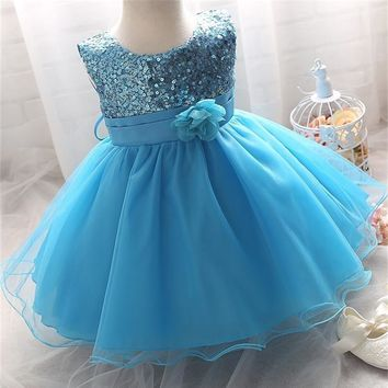 Baby Girl Dress For Toddler Girl Flower Girls Dresses Princess Birthday Formal Dress For Party Kid C