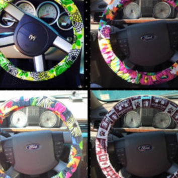 Vera Bradley Steering Wheel Cover made from fabric universal fit