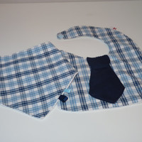 Baby boy bandana bib and tie bib - set of baby bibs / Baby bib Dribble / baby gift