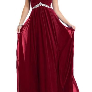 Gorgeous Bridal 2016 Tulle and Chiffon Long Evening Prom Gown Rhinestones