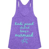 Kinda' pissed about not being a mermaid-Female Tri Orchid Tank