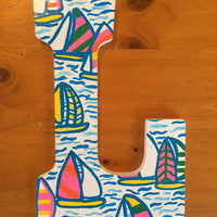 L Lilly Pulitzer Painted Wood Letter