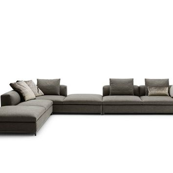 Corner sectional upholstered fabric sofa MICHEL CLUB Michel Collection by B&B Italia | design Antonio Citterio