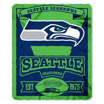 "Seattle Seahawks NFL Marque 50""x 60"" Fleece Throw"