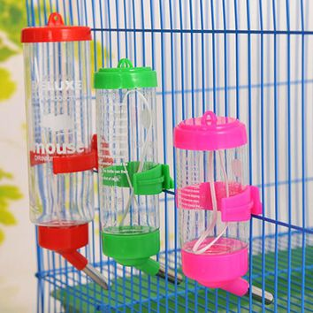 80ML 150ML 250ML Pet Product Plastic Drinking Bottle Feeder Hamster Rabbit Water Hanging Bottle Water Dispenser