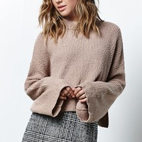 Honey Punch Cropped Turtleneck Sweater - Womens Sweater