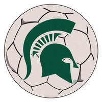Michigan State Spartans NCAA Soccer Ball Round Floor Mat (29)