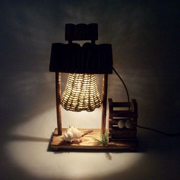 Vintage House type Incandescent Bulbs Home Decor Night Light Bed Lamp Decoration with Pen Holder
