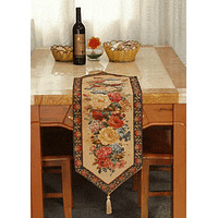 Tache Colorful Country Rustic Floral  Morning Awakening Table Runner in Different Sizes (DSC3089B)