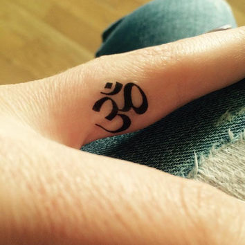 Temporary Tattoo | OM Sign | Yoga Tattoo Art | Yoga Tattoo | Finger Tattoo | Fun Tattoo | Tattoo | Yoga | handmade by misssfaith