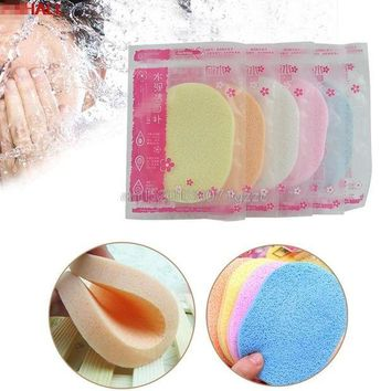 DCCKKFQ Beauty Soft Facial Face Wash Cleansing Sponge Puff Pad Makeup Remover Puffs New #H027#