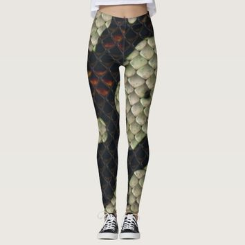Chic Snake Skin Animal Pattern Leggings